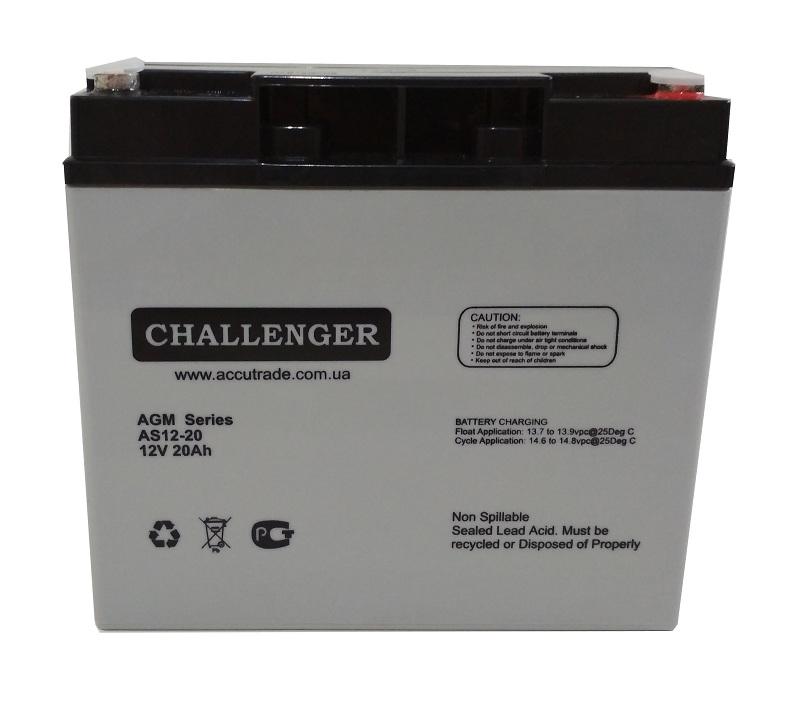 Купить Аккумуляторная батарея Challenger AS12-20 12v 20Ah
