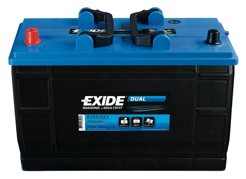 Купить Лодочный аккумулятор EXIDE Dual MARINE ER 550 12v 115Ah 760A