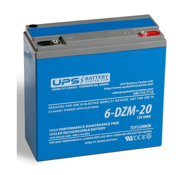 Купить Тяговый велосипедный аккумулятор 6-DZM-20 12V 20Ah