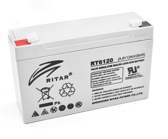 Аккумуляторная батарея RITAR RT6120A  6V 12Ah