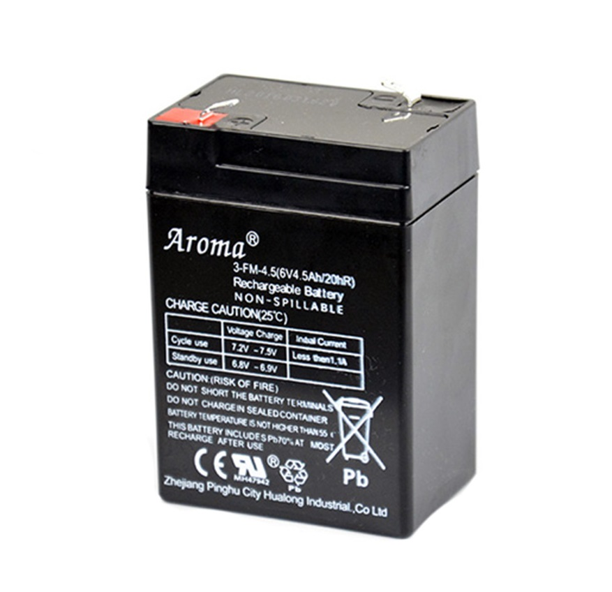 Аккумулятор Aroma 3-FM-4.5(6V4.5AH/20hR) для детского электромобиля