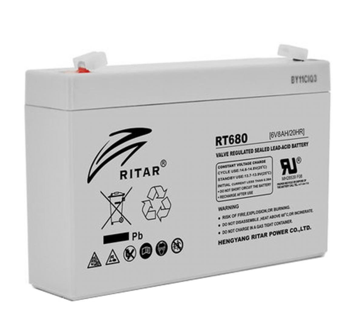 Аккумулятор на детский электромобиль AGM RITAR RT680 6V 8Ah