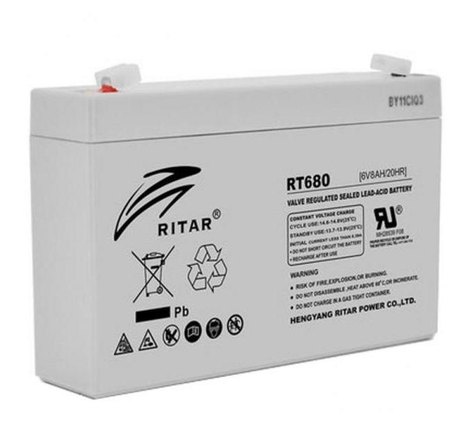 Купить  Аккумуляторная батарея RITAR RT680 6V 8Ah