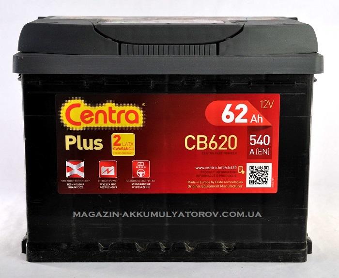 Купить Centra Plus 62Ah 540A