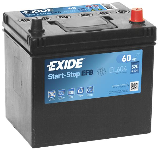 Купить EXIDE Start-Stop EFB EL604 60Ah 520A (Оригинал)