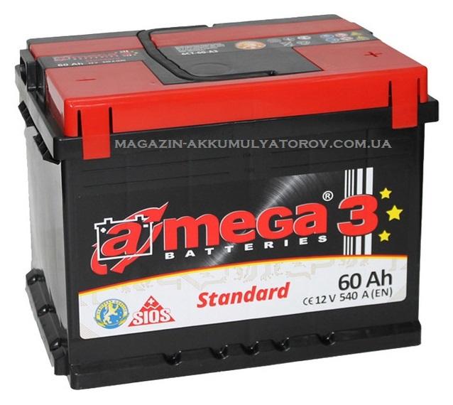 Купить A-MEGA STANDARD 60Ah 540A