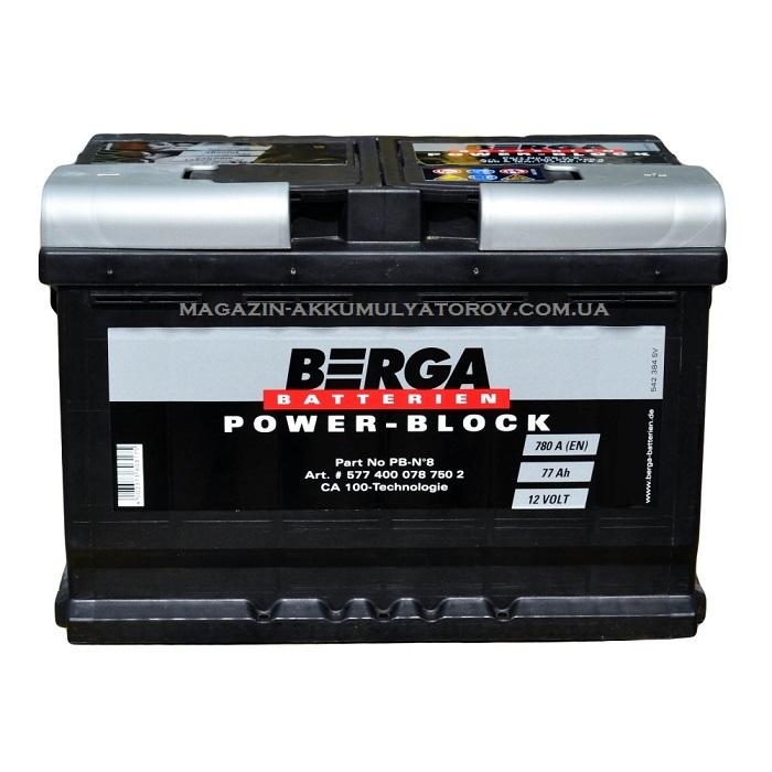 Купить BERGA POWER-BLOCK 77AH 780A