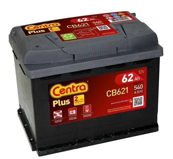 Купить Centra Plus CB621 62Ah 540A