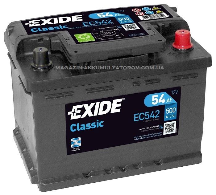 Купить EXIDE Classic EC542 54Ah 500A