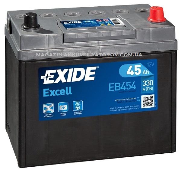 Купить EXIDE Excell EB454 45Ah 330A