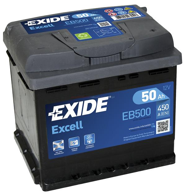 Купить EXIDE Excell EB500 50Ah 450A