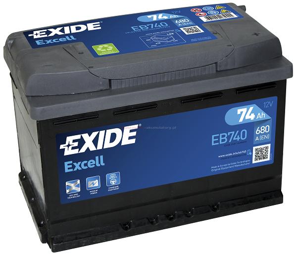 Купить EXIDE Excell EB740 74Ah 680A