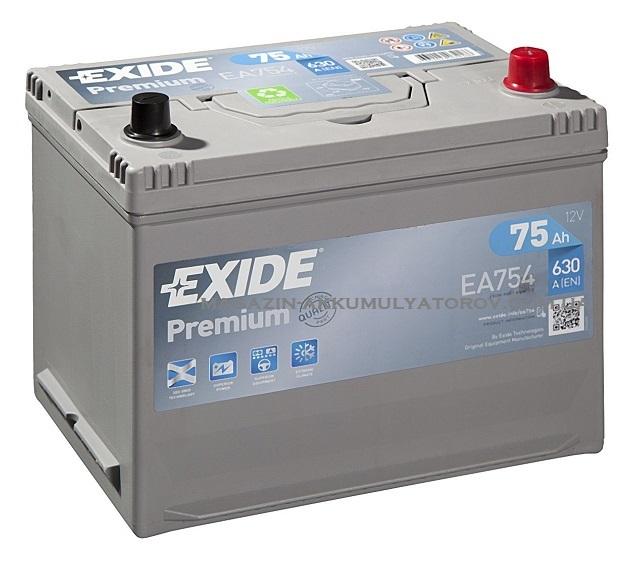 EXIDE PREMIUM EA754 75Ah 630A