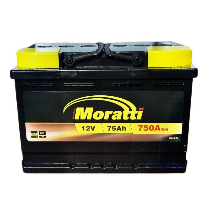 Купить Moratti PREMIUM 75Ah 750A