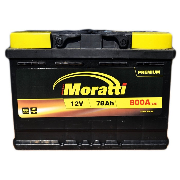 Купить Moratti PREMIUM 78Ah 800A