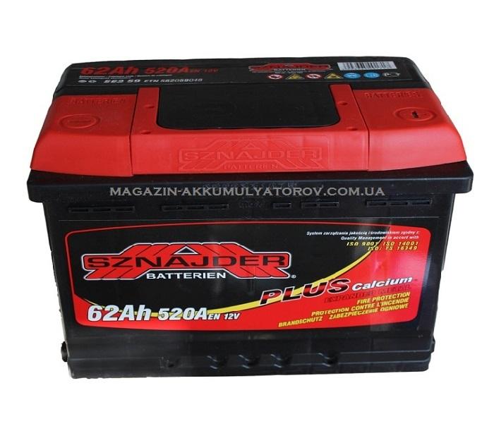 Купить SZNAJDER PLUS 62Ah 520A