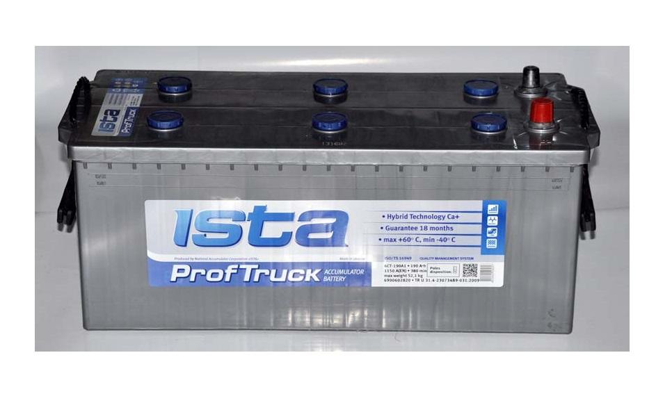 Купить ISTA PROF TRUCK 190Ah 1150A