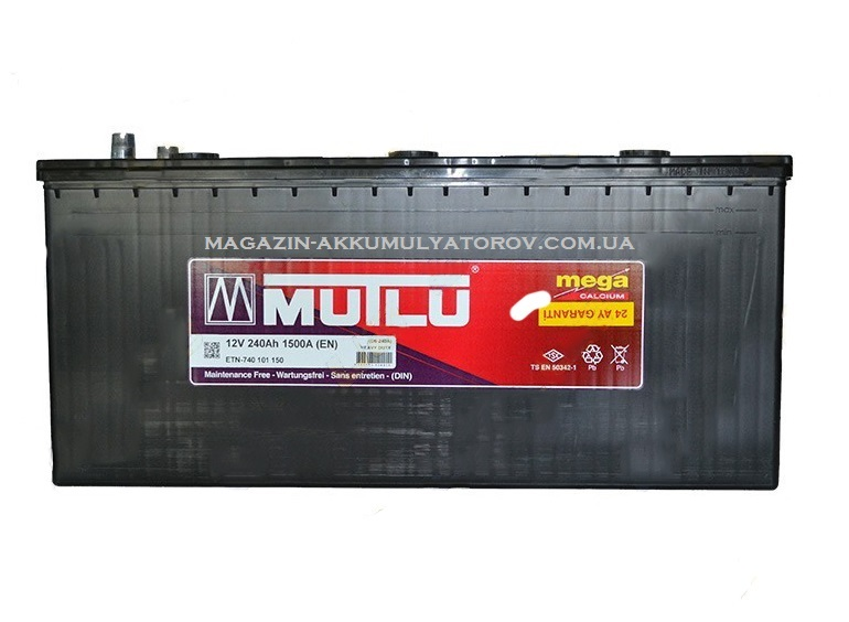 Купить Mutlu Mega Calcium 240Ah 1500A