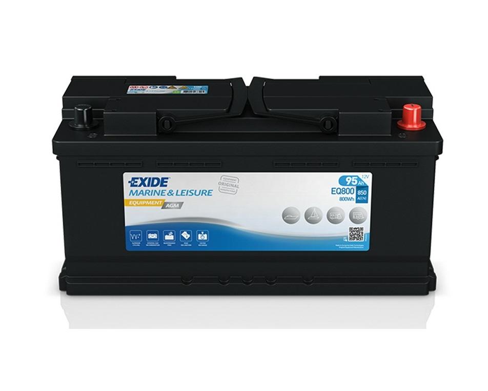 Лодочный аккумулятор Exide MARINE LEISURE AGM EQ800 12v 95Ah 850A