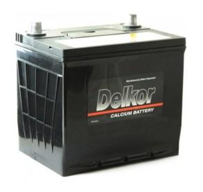 Автомобильный-аккумулятор-Delkor-75D23R-12v-65Ah-580A