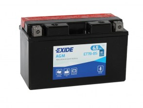 Мото аккумулятор EXIDE AGM ET7B-BS 12v 6.5Ah 85A