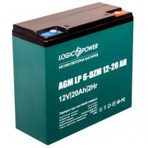 Тяговый аккумулятор на электровелосипед LogicPower LP 6-DZM 12-20 12v 20Аh