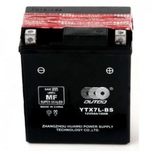Мото аккумулятор OUTDO YTX7L-BS 12v 6Ah 100A