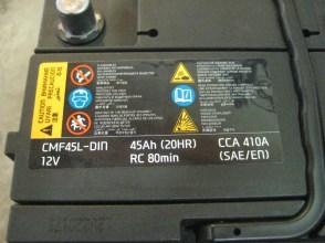 Аккумулятор cmf45l-din 12v 45Ah 410CCA