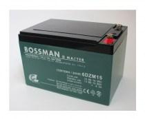Акумуляторна батарея тягова ДЛЯ ЭЛЕКТРОВЕЛОСИПЕДА BOSSMAN AGM 6DZM15 12V 15Ah