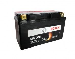 Мото аккумулятор BOSCH M6 008 YT7B-4 12v 7Ah 120A