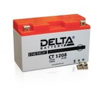 Мото аккумулятор DELTA AGM CT 1208 YT7B-BS 12v 8Ah 120A