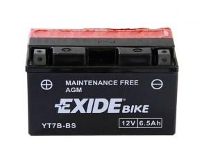 Мото аккумулятор EXIDE YT7B-BS 12v 6.5Ah 110A