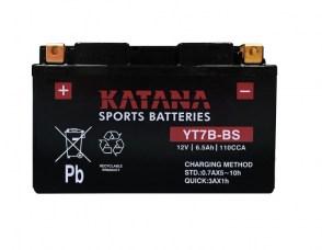 Мото аккумулятор KATANA YT7B-BS 12v 6.5Ah 110A