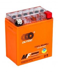 Мото аккумулятор OUTDO GEL YTX7L-BS 12v 6Ah 100A