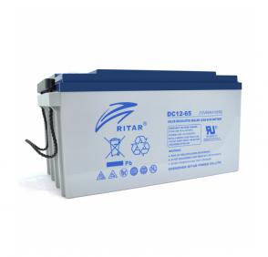 Аккумулятор для лодочного электромотора AGM RITAR DC12-65 12V 65Ah