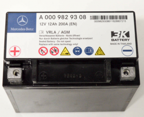 Аккумулятор на MERCEDES-BENZ A0009829308 12v 12Ah 200A