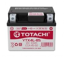 Аккумулятор на скутер Totachi YTX4L-BS 12v 4Ah 50A