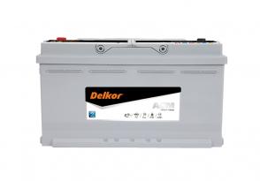 Автомобильный аккумулятор DELKOR AGM90L-DIN 90Ah 12v 850A
