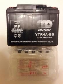 Аккумулятор-таблетка-на-Yamaha-Suzuki-YTR4A-BS-2,3Ah-45A