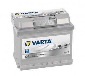 akkumulyator-FORD-SKODA-fiat-kia-HYUNDAI-Ассent-varta-silver-dynamic-c6-52аh-520a