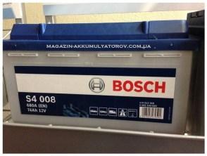 zamena_akkumulyator-bosch-s4-008-74аh-680A-Volvo-Peugeot-BMW-Ford-Fiat-Skoda-Volkswagen-Opel-Audi-Renault