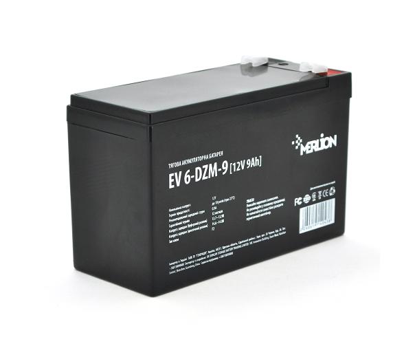 Тяговий акумулятор AGM MERLION EV 6-DZM-9 12v 9Ah
