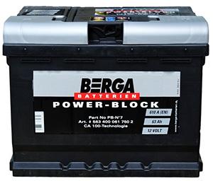 Автомобильные аккумуляторы Berga (Берга)