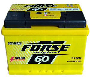 Автомобильные аккумуляторы FORSE (Форсе)